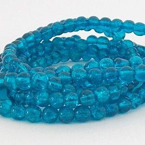 perles craquelées dark aqua