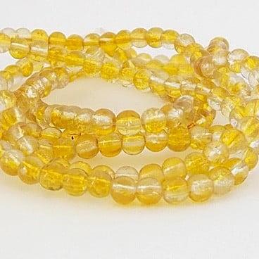 perles craquelées jaune crystal
