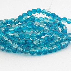 perles craquelées dark aqua crystal