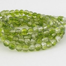 perles craquelées olivine