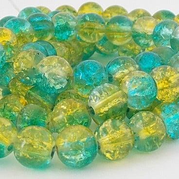perles craquelées 8mm zircon jaune