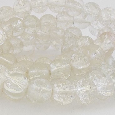 perles craquelées 8mm crystal