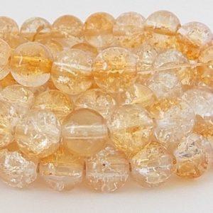 perles craquelées 8mm topaz crystal