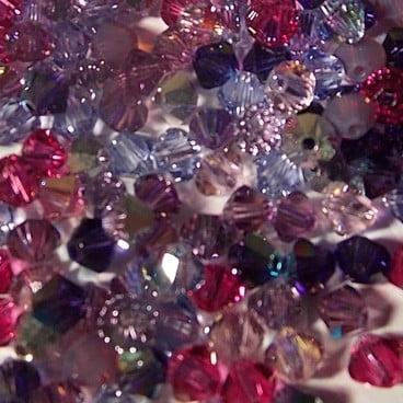 perles Swarovski purple