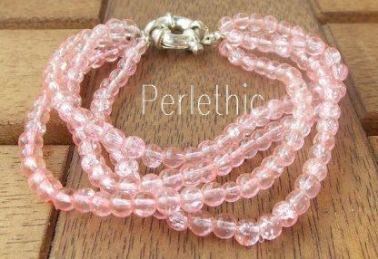 bracelet en perles craquelées