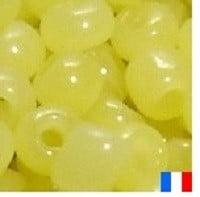 perles de rocaille jaune opal