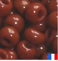 perles de rocaille chocolat