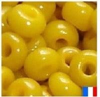 perles de rocaille moutarde