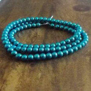 perles nacrées blue zircon mat