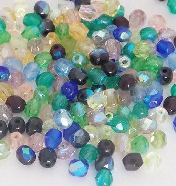 perles à facettes coloris ab