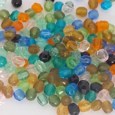 perles à facettes coloris mix