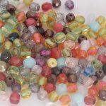 perles à facettes coloris spéciaux