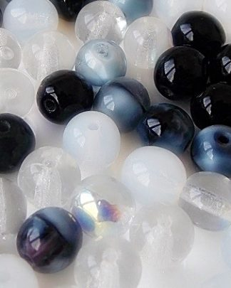 mix perles rondes verre 6mm