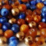 perles rondes verre 6mm mix