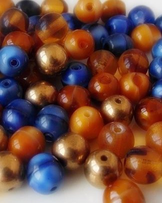 perles rondes verre 6mm mix