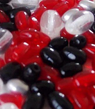 mix perles en verre olives