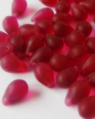 perles gouttes en verre