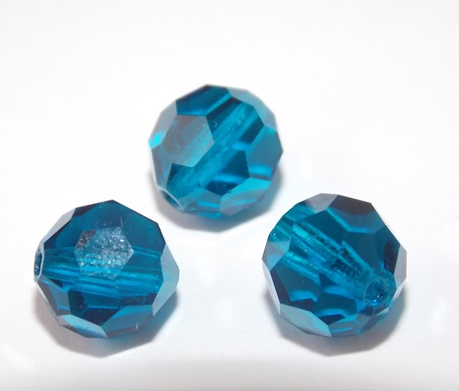 perles rondes cristal