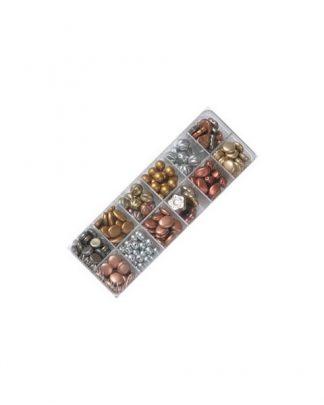 boite de perles argent bronze
