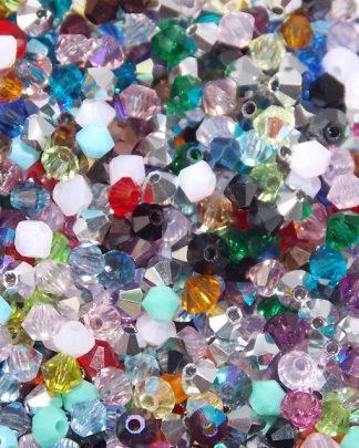 mélange de perles cristal