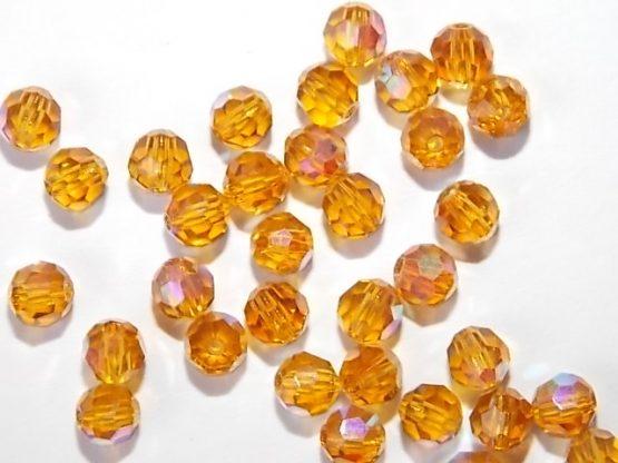 perles rondes en cristal 4mm