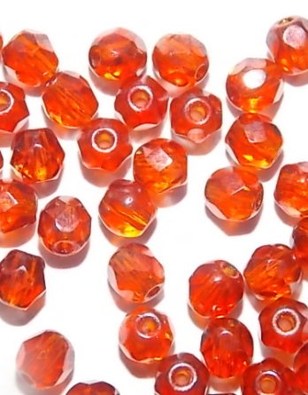 perles à facettes de bohème
