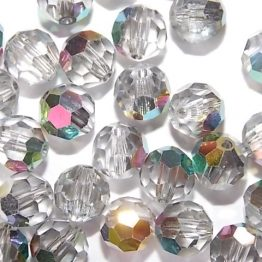 perles rondes cristal